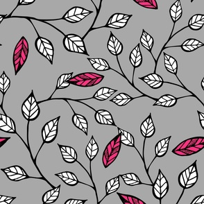 Pop Floral Branches Pink
