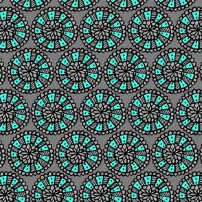 Pop Floral Disks Blue