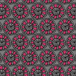 Pop Floral Disks Pink