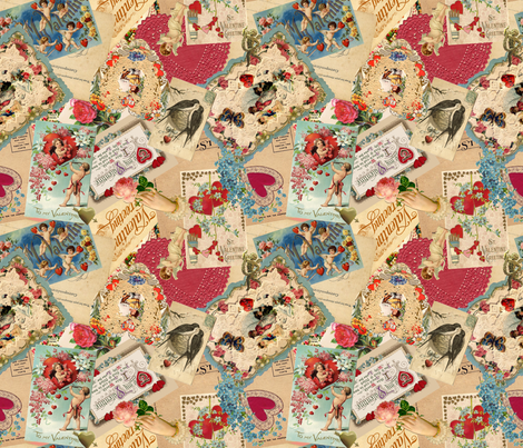 Vintage Valentine  fabric by miart on Spoonflower - custom fabric