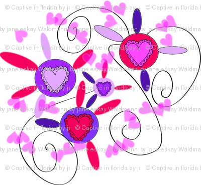 Valentine Heart Flowers