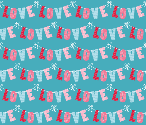 LOVE_LETTERS_©LISA_DEIGHAN_2013 fabric by lisa_deighan on Spoonflower - custom fabric