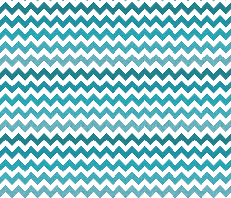 Ombre Textured Chevron in Pool Blues fabric by south4winter on Spoonflower - custom fabric