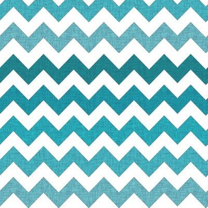 Ombre Textured Chevron in Pool Blues