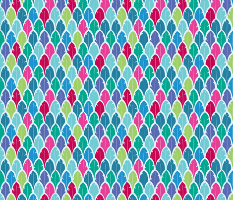 Feathers in Turquoise fabric by alinichole on Spoonflower - custom fabric