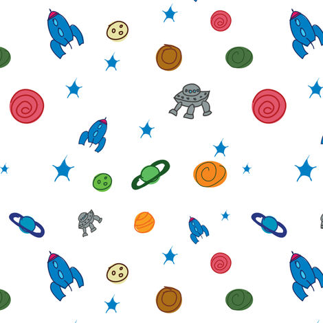 Outer Space fabric by witee on Spoonflower - custom fabric