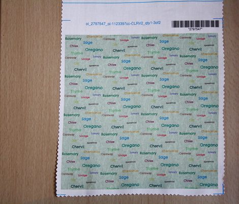 Herbs Letterquilt Small (Mint) (Textured)