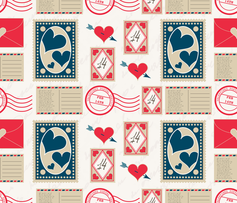 Love-Letters fabric by errozero on Spoonflower - custom fabric