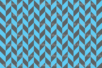 Gray-Teal Herringbone