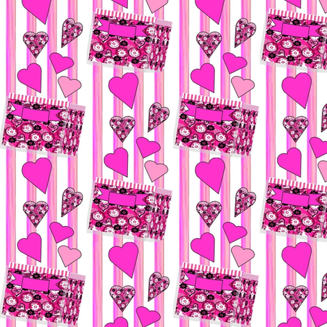 Valentines gift of love fabric by dk_designs on Spoonflower - custom fabric