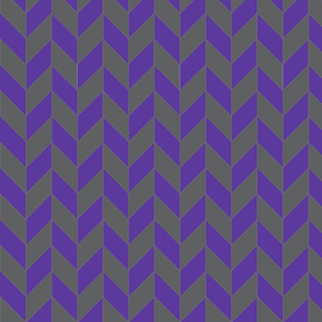 Purple-Gray Herringbone