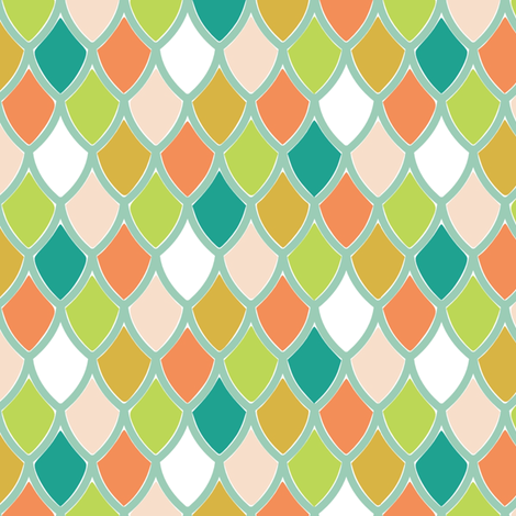 Sorbet Scales fabric by mrshervi on Spoonflower - custom fabric