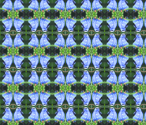 Blue Bee Eater fabric by ravynscache on Spoonflower - custom fabric