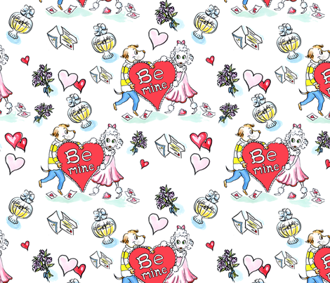 singlevalentine_repeater fabric by mcuetara on Spoonflower - custom fabric