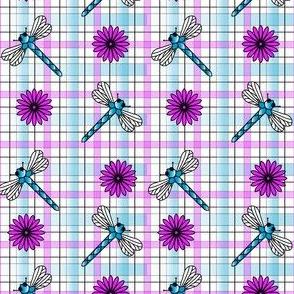 Dragonflies___Flowers_Plaid
