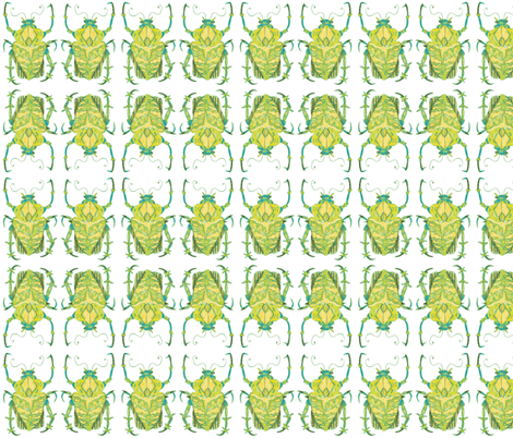 Greenish Beetle fabric by bad_penny on Spoonflower - custom fabric