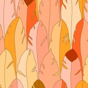 Large Feathers in Orange