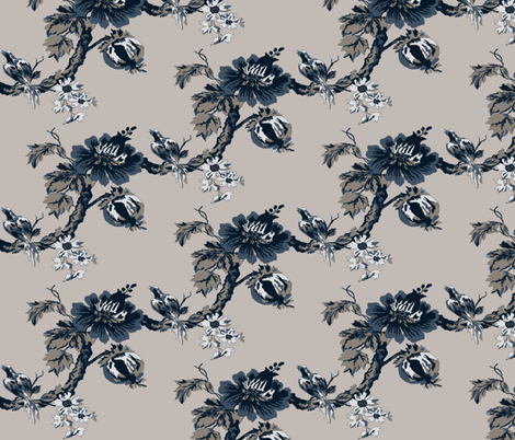 Botanical  Tree / indigo fabric by paragonstudios on Spoonflower - custom fabric