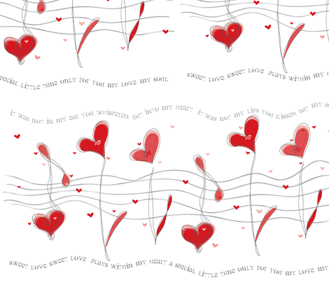 Love Notes fabric by artsycanvasgirl on Spoonflower - custom fabric
