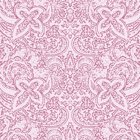Paisley in Orchid Pink fabric by delsie on Spoonflower - custom fabric