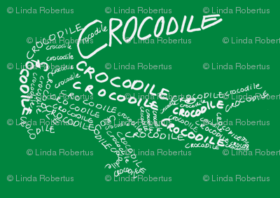 Crocodile Calligram