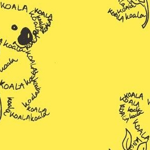 Koala Calligram