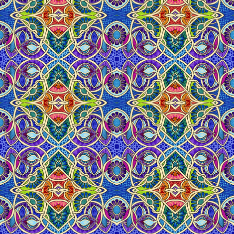 Tangled Up Under a Midnight Sky fabric by edsel2084 on Spoonflower - custom fabric