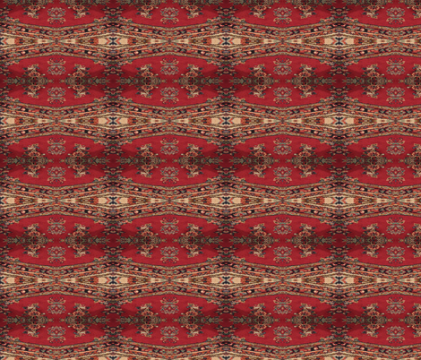 Red Persian (Kirman) fabric by ravynscache on Spoonflower - custom fabric