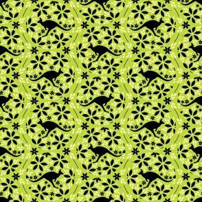Flowers & Roos (Green)