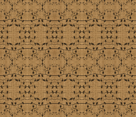 birds on burlap fabric by krs_expressions on Spoonflower - custom fabric