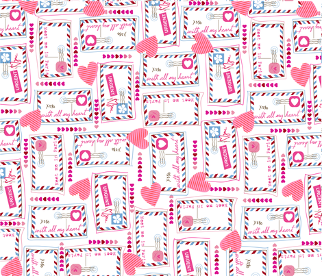 Long Lost Letters fabric by orangeblossomstudio on Spoonflower - custom fabric