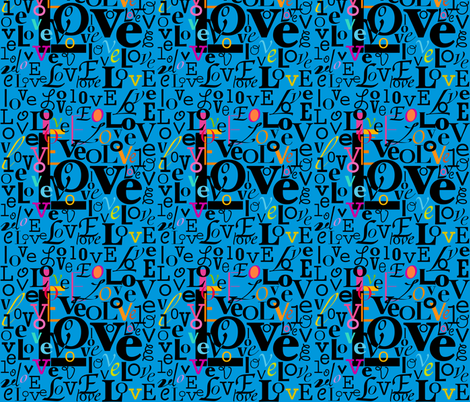 love_letters2 fabric by stella12 on Spoonflower - custom fabric