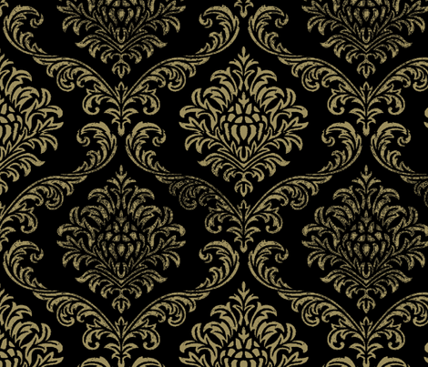 Timeless brocade/ black fabric by paragonstudios on Spoonflower - custom fabric