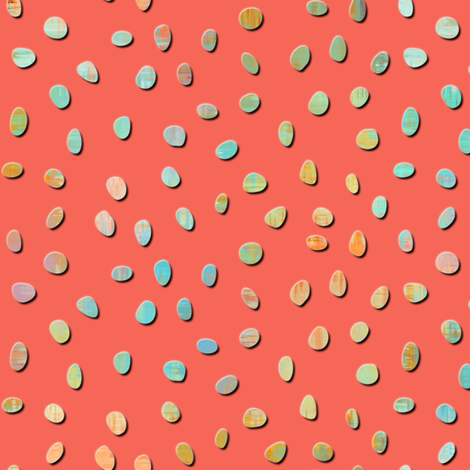 sketch texture dots coral - 4x fabric by glimmericks on Spoonflower - custom fabric