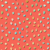 sketch texture dots coral - 4x