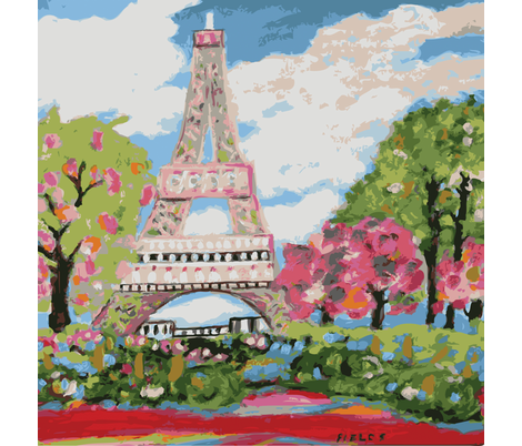 Eiffel Tower Dream fabric by fields on Spoonflower - custom fabric