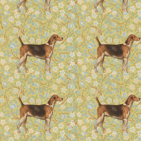 Morris' Hound fabric by ragan on Spoonflower - custom fabric
