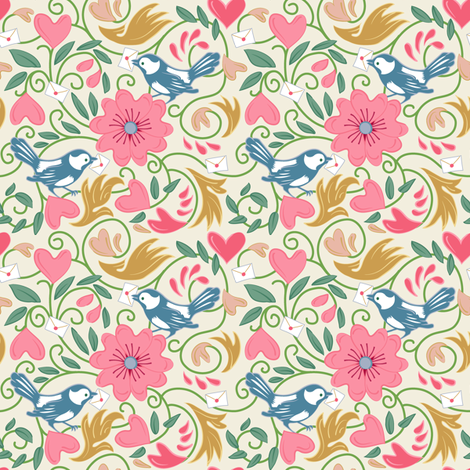 A Lovely Delivery - Ivory fabric by dianne_annelli on Spoonflower - custom fabric