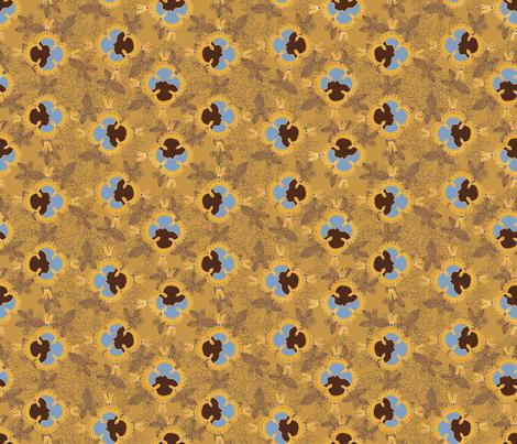 African Visage Autumn Sands Small fabric by bloomingwyldeiris on Spoonflower - custom fabric