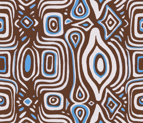 Michelle Brown fabric by chicca_besso on Spoonflower - custom fabric