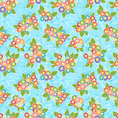 Kimono valentine floral  fabric by vo_aka_virginiao on Spoonflower - custom fabric