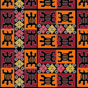 African geometrics fabric