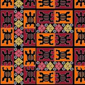 African geometrics fabric