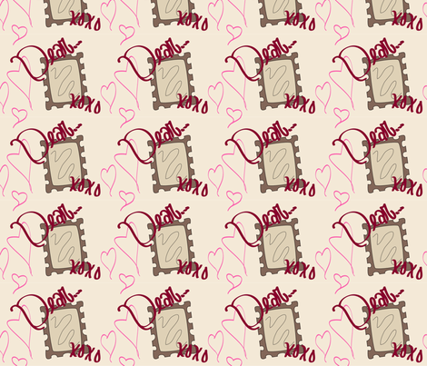 Dear...XOXO fabric by alyciagillaspie on Spoonflower - custom fabric