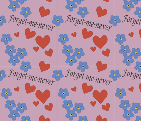 forget-me-never_mb fabric by dollyball on Spoonflower - custom fabric