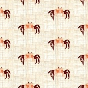 Tiny Crabs - linen