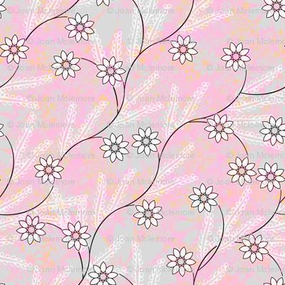Meadow Vine on pink