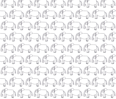 JJ_s_Elephant-ed fabric by kidsart2sew on Spoonflower - custom fabric