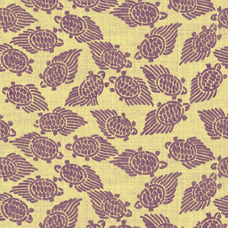turtles - purple with yellow background fabric by materialsgirl on Spoonflower - custom fabric
