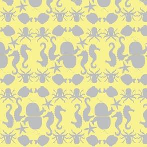 Sealife Yellow and Gray